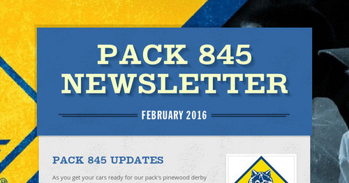 Pack 845 Newsletter